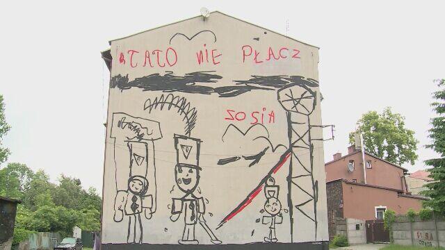 Katowice niezwyk y mural 3d abstrakcyjne wn trze for Mural warszawa 44