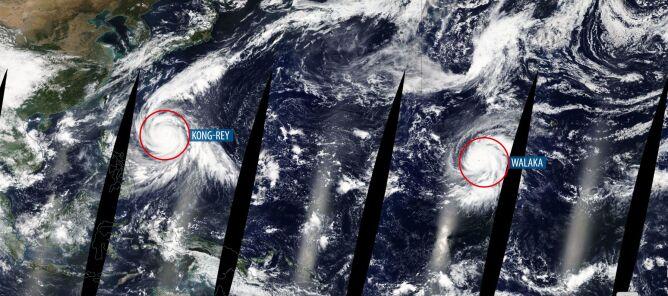 Dwa niebezpieczne żywioły na Pacyfiku (worldview.earthdata.nasa.gov)