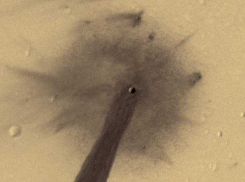 Zdjęcie krateru (NASA)