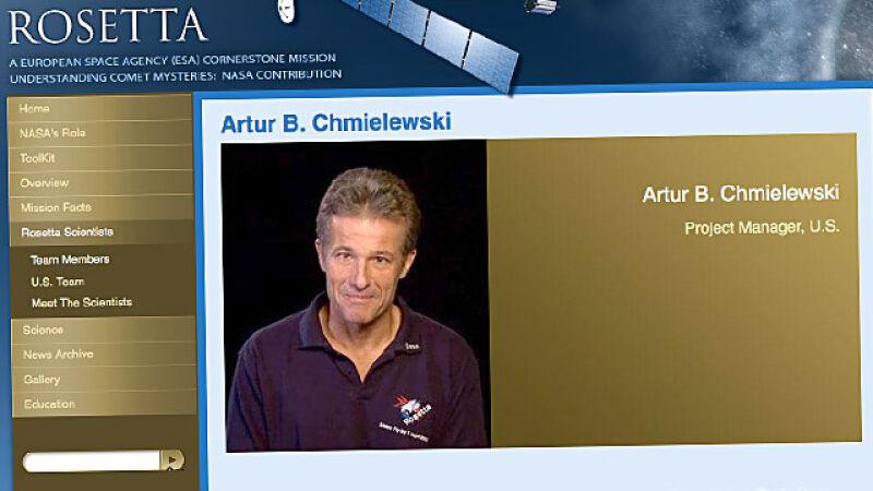 Artur B. Chmielewski jest menadżerem projektu Rosetta