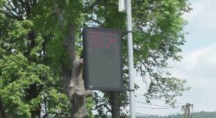 Tablica w Gładyszowie wyświetlała informacje pogodowe po chińsku