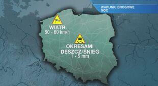 Warunki drogowe w nocy 19.02/20.02